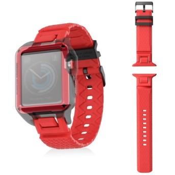 ELECOM AW-42BDZERORD Apple Watch 42mm ZEROSHOCKバンド レッド その他アクセサリ (スマートフォン・iPhone)