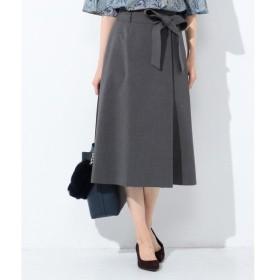 L size ONWARD(大きいサイズ) / エルサイズオンワード 【洗える】T/Rコンパクトストレッチ フレアスカート
