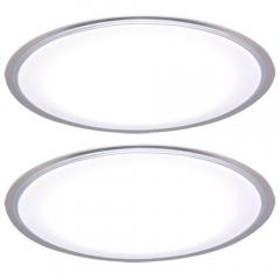 シーリングライト LED 12畳 おしゃれ 調光 CL12D-5.0CF 天井照明 照明器具 2台セット(1900466) アイリスオーヤマ