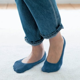 フットカバー 靴下 レディース 5本指 夏用 日本製 脱げない ソックス パンプス 薄手 杢グレー 滑り止め付き 綿混 消臭 23~25