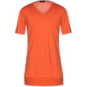 《セール開催中》ROBERTO COLLINA メンズ プルオーバー オレンジ L 100% コットン
