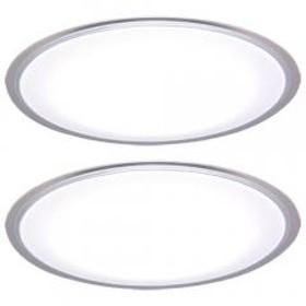シーリングライト LED 8畳 おしゃれ 調光 CL8D-5.0CF 天井照明 照明器具 2台セット(1900464) アイリスオーヤマ