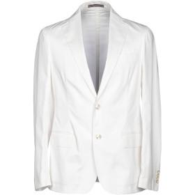 《期間限定セール開催中!》PAL ZILERI CONCEPT メンズ テーラードジャケット ホワイト 50 コットン 96% / ポリウレタン 4%