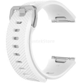IPOTCH Fitbit Ionicバンド 交換用バンド シリコン製 快適性 スマートウォッチバンド L/Sサイズ 高品質  3色選択  - 白;S