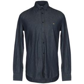 《9/20まで! 限定セール開催中》HENRY COTTON'S メンズ デニムシャツ ブルー 40 コットン 100%