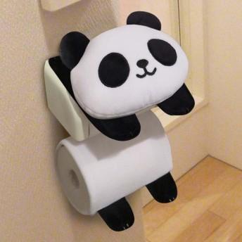 トイレットペーパーホルダーカバー パンダのペーパーホルダーカバー ( トイレ ホルダーカバー トイレ用品 )