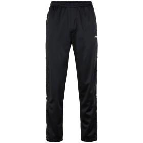 《期間限定セール開催中!》FILA HERITAGE メンズ パンツ ブラック S ポリエステル 100% Naolin Track Pants Buttonn