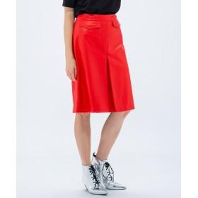 【オンワード】 CK CALVIN KLEIN WOMEN(CK カルバン・クライン ウィメン) 【レザー】ソフトナッパ スカート レッド XS レディース 【送料無料】