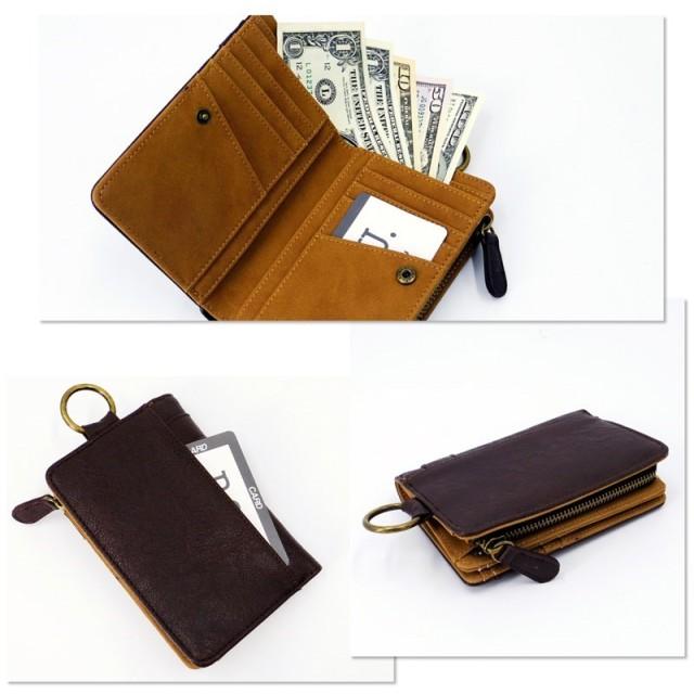 4e5fa07ef7a5 二つ折り財布 - BCLOVER ウォルト 小銭入れ付二つ折り財布 合皮 メンズ ...