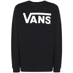 《期間限定 セール開催中》VANS メンズ スウェットシャツ ブラック XL コットン 100% MN VANS CLASSIC CREW