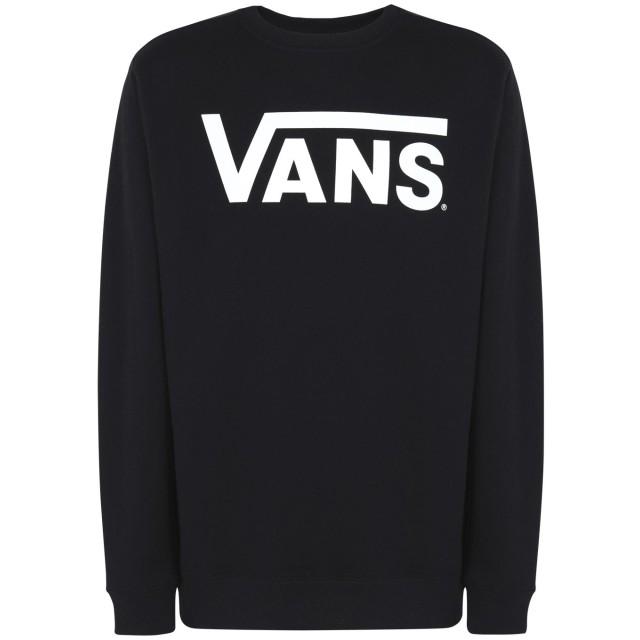 《期間限定セール開催中!》VANS メンズ スウェットシャツ ブラック XL コットン 100% MN VANS CLASSIC CREW