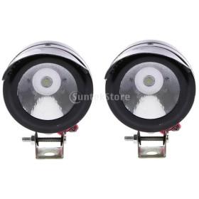 Non-brand ユニバーサル電気オートバイランプLED霧スポットホワイトライトヘッドライト12V 5W