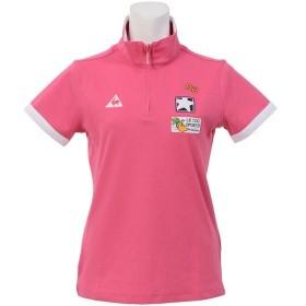 (セール)le coq GOLF(ルコックゴルフ) ゴルフ レディース半袖ポロ 半袖ハイネック バックPTハーフジップシャツ QGL2650 レディース W469