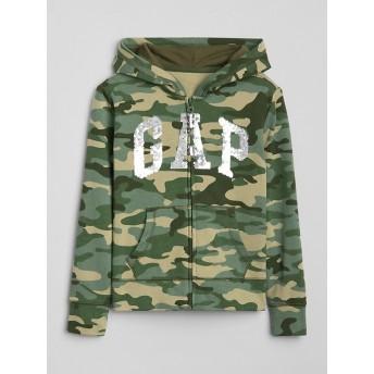 Gap カモフラージュ スパンコールロゴ パーカースウェットシャツ(キッズ)