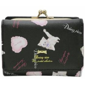 Daisy Rico デイジーリコ ショートウォレット 三つ折り がまぐち ミニ財布 ねこモチーフ ブラック 女子力アップ グッズ