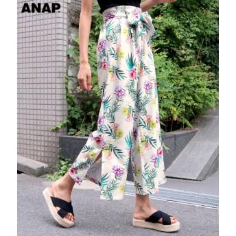 【セール開催中】ANAP(アナップ)花柄ワイドパンツ