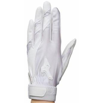 ミズノ 守備手袋(右手用)【片手用】(ジュニア) ホワイト×ホワイト(1ejey10310)