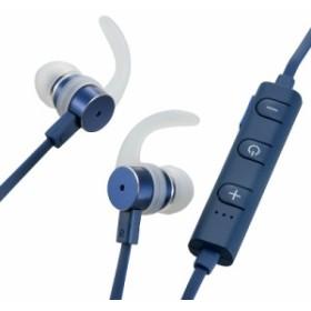 AudioComm ワイヤレスイヤホン イヤーフック付 ブルー_HP-W170N-A 03-2269 オーム電機