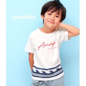 ANAP KIDS 波柄プリントTシャツ