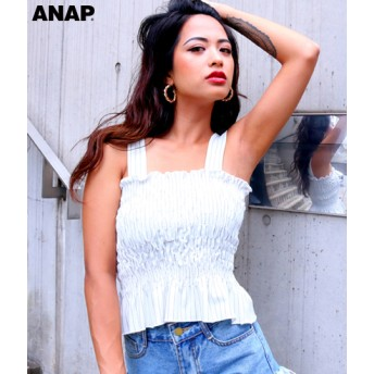 【セール開催中】ANAP(アナップ)ストライプシャーリングトップス