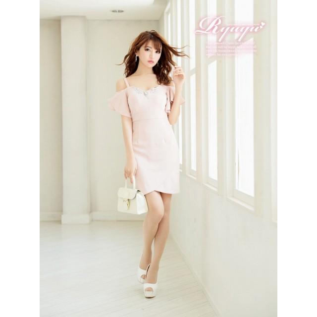 72d2ef3df2db5 ドレス - Ryuyu キャバ ドレス キャバドレス ピンク 大きいサイズ 袖付き キャバ嬢 キャバクラ ドレス