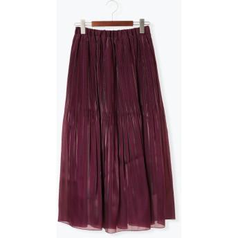 ひざ丈スカート - Te chichi オーロラロング消しプリーツスカート