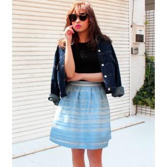 【セール開催中】ANAP(アナップ)ボーダーオーガンジースカート