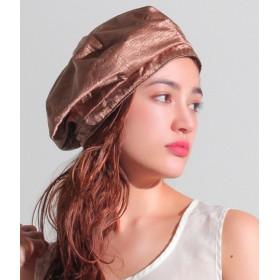 【セール開催中】ANAP(アナップ)グロッシーサテンベレー帽