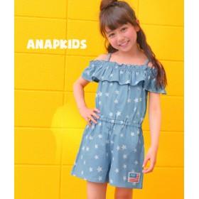 【セール開催中】ANAP KIDS(キッズ)星柄ダンガリーサロペット