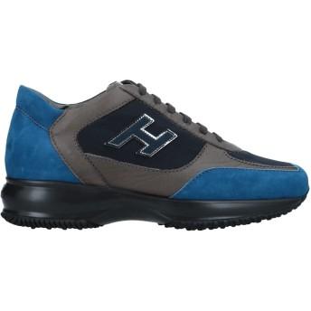 《セール開催中》HOGAN レディース スニーカー&テニスシューズ(ローカット) ブルー 37.5 革 / 紡績繊維