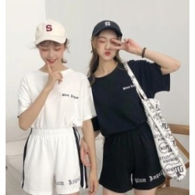 ファッション 2018秋新作 オルチャン Tシャツ ショートパンツ セットアップ 上下セットアップ大きいサイズ ジャージファッション