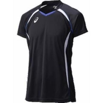 アシックス ゲームシャツHS 9001 ブラック×ホワイト(xw1316-9001)