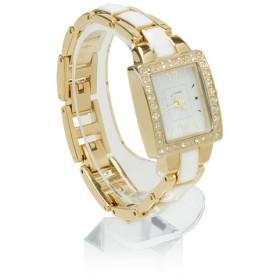 時計 - 夢展望 腕時計 スクエアジュエリー 2トーン ウォッチ おしゃれ ゴールド シルバー ブラック ピンク F レディース 夢展望