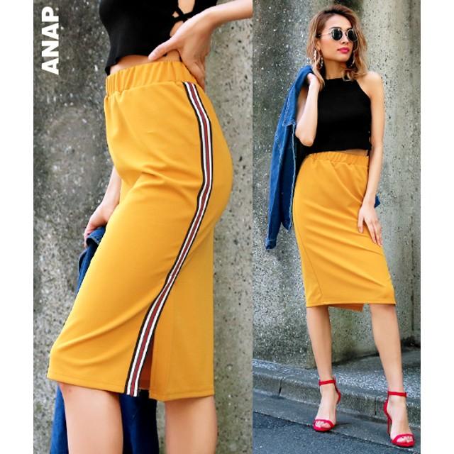 【セール開催中】ANAP(アナップ)ラインデザインスリットスカート