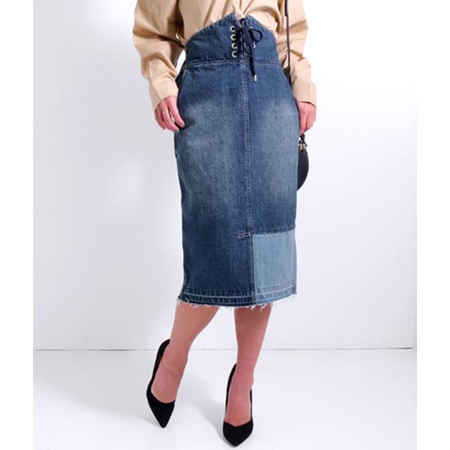 【セール開催中】ANAP(アナップ)リメイクデニムハイウエストスカート