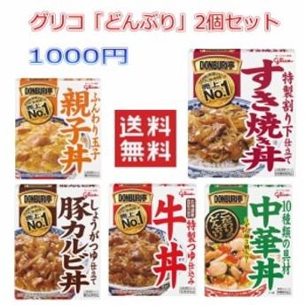 1000円均一 送料無料 グリコ どんぶり亭 2個セット 即食 時短食 レトルト 食品 パック 牛丼 豚カルビ丼 DONBURI亭