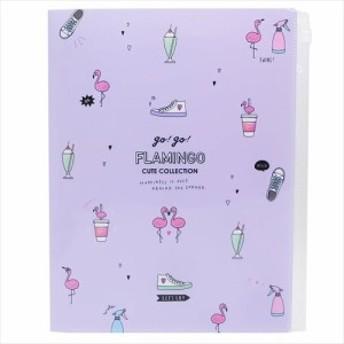 GO GO FLAMINGO ファイル ジップファスナー付6ポケットA4 クリアファイル 2018SS かわいいグッズ通販