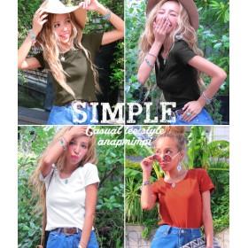【セール開催中】ANAP(アナップ)シンプル無地Tシャツ