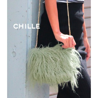 CHILLE チベットファー風ポシェット