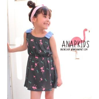 【セール開催中】ANAP KIDS(キッズ)フラミンゴ柄ワンピース