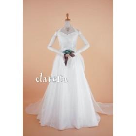 結婚式ドレス [送料込 無料] カラードレス 白 二次会 花嫁 演奏会 セパレートウエディングドレス9号(CLW993)【中古】(リサイクル)