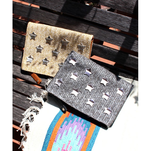 【セール開催中】ANAP(アナップ)雑材スターアップリケクラッチバッグ
