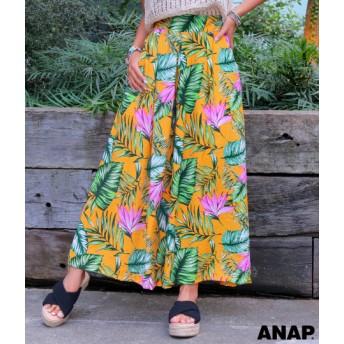 【セール開催中】ANAP(アナップ)リゾート柄タックワイドパンツ