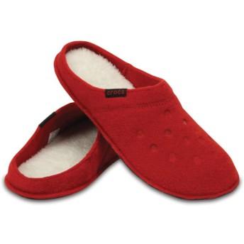 【クロックス公式】 クラシック スリッパ Classic Slipper ユニセックス、メンズ、レディース、男女兼用 レッド/赤 22cm,24cm,26cm,28cm slipper