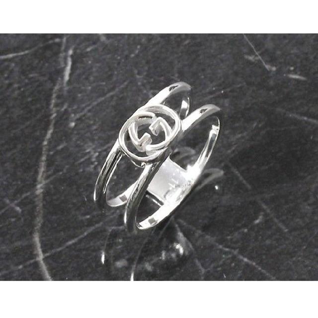 cce708c43327 グッチ リング【指輪】 アクセサリー メンズ レディース インターロッキングG シルバー 298036 J8400 8106 GUCCI