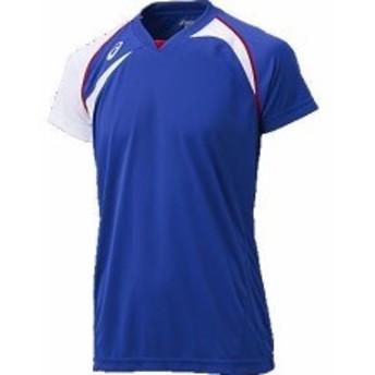 アシックス ゲームシャツHS 4501 ブルー×ホワイト(xw1318-4501)