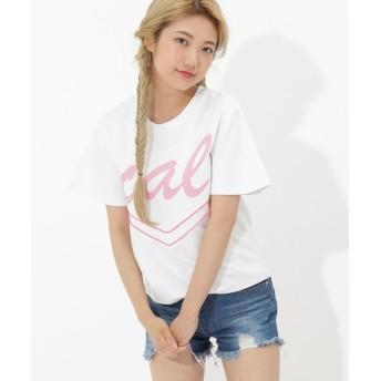 【50%OFF】 サマンサベガ Cal logo オーバーサイズTシャツ レディース ホワイト FREE 【SAMANTHAVEGA】 【セール開催中】