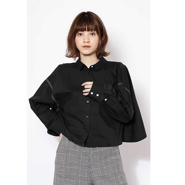 ROSE BUD / ローズ バッド ショート丈フレアシャツ