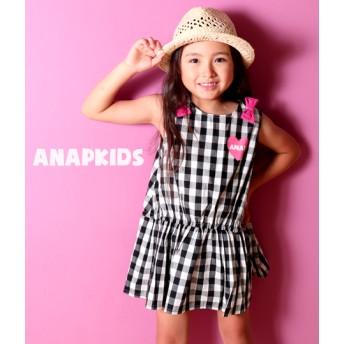 【セール開催中】ANAP KIDS(キッズ)ギンガムチェックワンピース