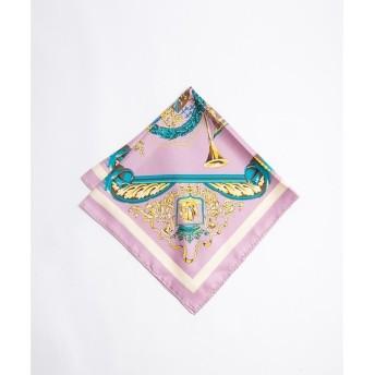 Rouge vif la cle / ルージュ・ヴィフ ラクレ manipuri crest シルクスカーフ